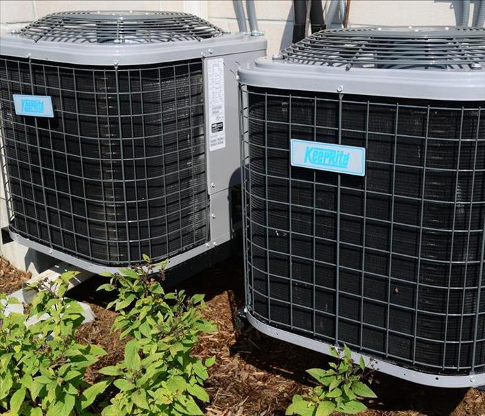 HVAC systems on the ground level
