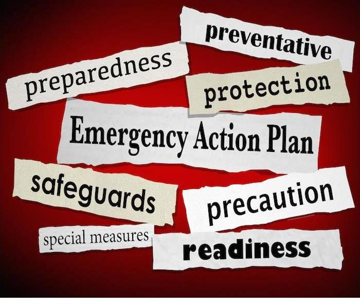 preparedness and readiness sayings in bold lettering with red background